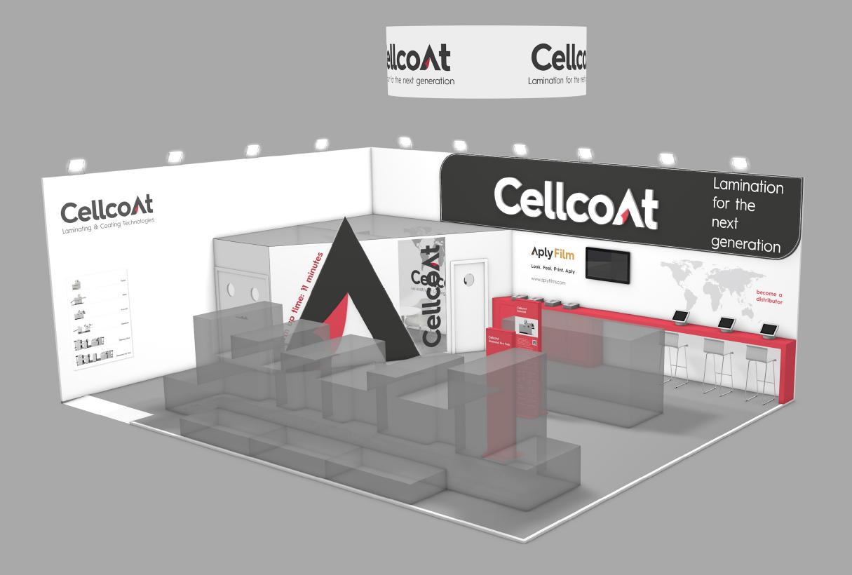 Cellcoat stand at Drupa